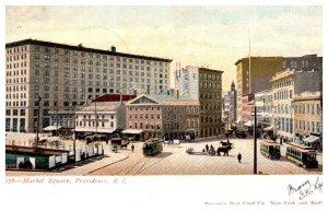 Rhode Island , Providence , Market Square , many Trolleys
