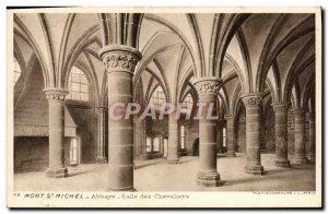 Old Postcard Mont St Michel Abbey Salle Des Chevaliers