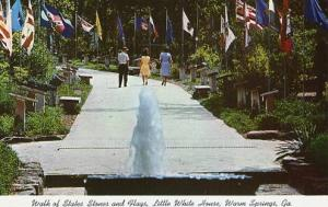 GA - Warm Springs, Walk of States, Stones & Flags - Little White House