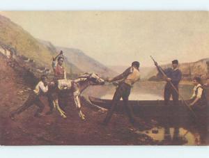 Postcard Of Painting At Kugler'S Restaurant Philadelphia Pennsylvania PA hs5113