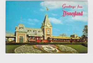 VINTAGE POSTCARD DISNEYLAND MAIN STREET USA GREETINGS FLORAL MICKEY #4