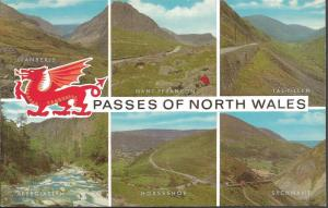 Vintage Postcard Multiview PASSES OF NORTH WALES by J Salmon Ltd 1110002