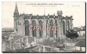 Old Postcard La Cote St Nazaire Church Carcassonne