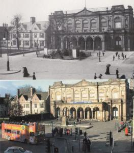 Exhibition Square Painting Art Gallery 2x York Large Postcard s