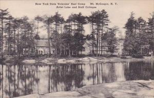 New York Mount Mcgregor New York State Veterans Rest Camp Artist Lake and Sta...