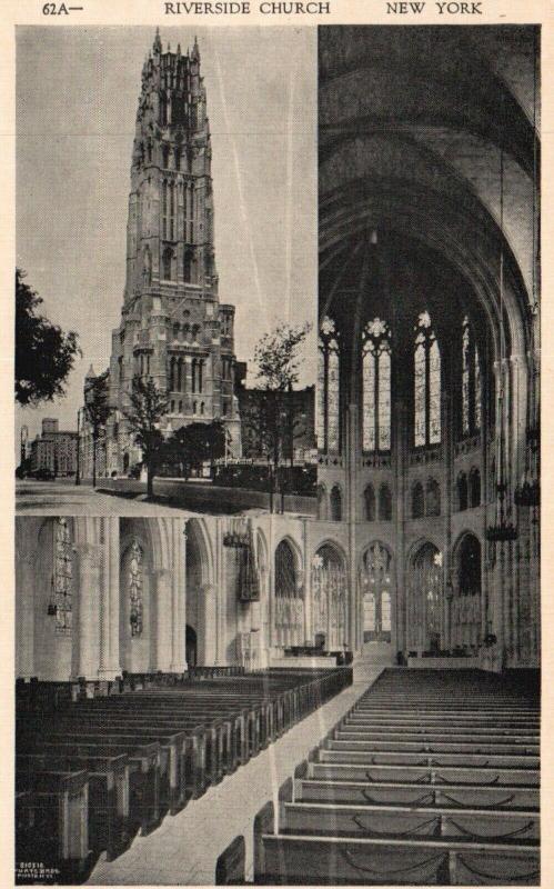 New York City, NY, Riverside Church, Interior, Unused Vintage Postcard f1441