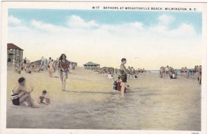 Bathers At Wrightsville Beach, Wilmington, North Carolina, 1910-1920s