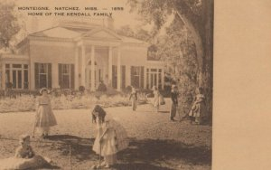 NATCHEZ , Mississippi , 1930s ; Kendall Family playing Croquet, MONTEIGNE