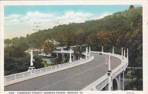 Pennsylvania Reading Lindbergh Viaduct Showing Pagoda 1932