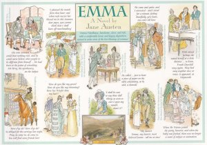 Emma Jane Austen Book Giant Rare Postcard