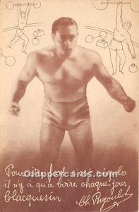 Old Vintage Wrestling Postcard Post Card Guy Wrestler Unused