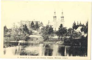 St. Annes R.C. Church and General Hospital, Mattawa, Ontario, Canada,