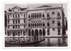 RPPC Venezia Hotel Ca D'Oro Palazzo Santa Sofia 1938 Postcard