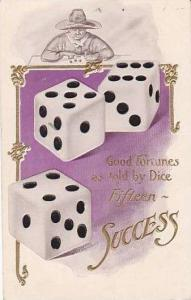 Good Fortunes Dice Fifteen Success Embossed