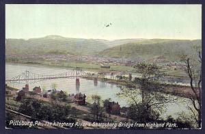 Sharpsburg Bridge Allegheny River Pittsburgh PA used c1912
