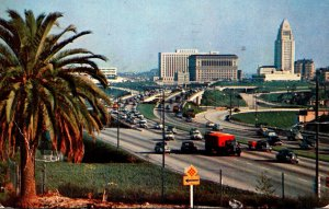 California Los Angeles The New Hollywood Freeway 1956