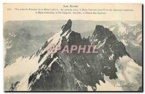 Old Postcard The Alps Sommer of taking view of the Meije