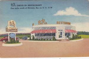 SHIVELY, Kentucky, 1930-1940's; Hick's DRIVE-IN Restaurant