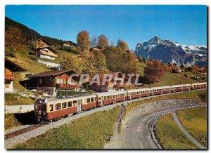 Postcard Modern Car Train of Railway Bernese Oberland Grindelwald pr�s / We...