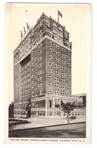 Atlantic City NJ Colton Manor Hotel Vintage Kropp Postcard