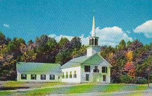New Hampshire New London A Truly Colonial Church Nestles In the Hills Of New ...