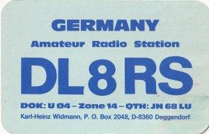 Deggendorf 1980s German QSL Radio Card