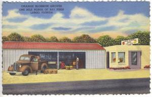 Largo FL Bay Pines Orange Blossom Groves Shipping Citrus Pickup Truck Postcard