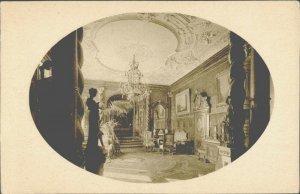 PC0152 romania prahova sinaia peles castle interior imperial hall chandelier