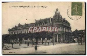 Old Postcard Bank Caisse d & # 39Epargne Vitry le Francois