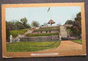Fort Greene Brooklyn NY 1906 Ullmans Gold Border 3062 UDB Glitter Highlights
