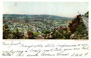 19096  NY Aerial View of Dansville NY