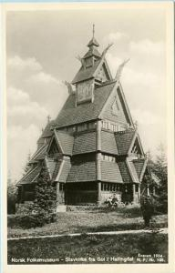 Norway - Oslo, Norsk Folk Museum, Stave Church from Gol in Hallingdal   *RPPC
