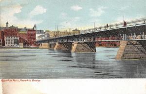 Haverhill Massachusetts~Haverhill Bridge~City in Background~c1905 Postcard
