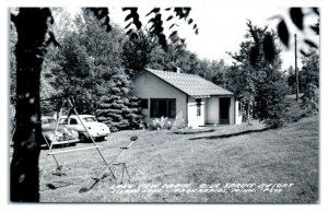 RPPC Blue Spruce Resort, Island Lake, Park Rapids, MN Real Photo Postcard *6O8