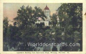 Legislative Building, Assiniboine River Winnipeg, Manitoba Canada 1940