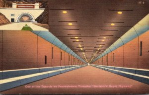 Pennsylvania Turnpike Interior View Of Allegheny Tunnel and Entrance To The T...