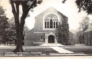 Grinnell Iowa~Grinnell College Chapel~Stained Glass Windows~1947 RPPC-Postcard