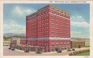 Tennessee Johnson City John Sevier Hotel Curteich