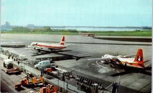 SAN DIEGO, CA California   LINDBERGH FIELD AIRPORT   c1950s     Postcard
