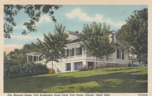 FORT GAGE, Illinois, 1930-40s; The Menard Home, Fort Kaskaskia State Park