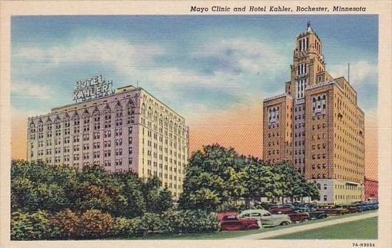 Minnesota Rochester Mayo Clinic And Hotel Kahler / HipPostcard