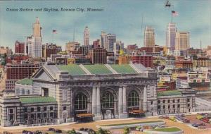 Union Station And Skyline Kansas City Missouri