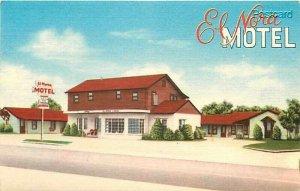 OK, Normand, Oklahoma, El-Nora Motel, Nationwide Post Card Company