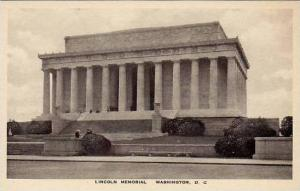 Washington DC Lincoln Memorial Albertype