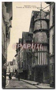 Troyes Old Postcard Turret of & # 39orfevre Street Champereux