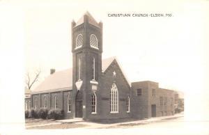 Eldon Missouri Christian Church Real Photo Antique Postcard K51944