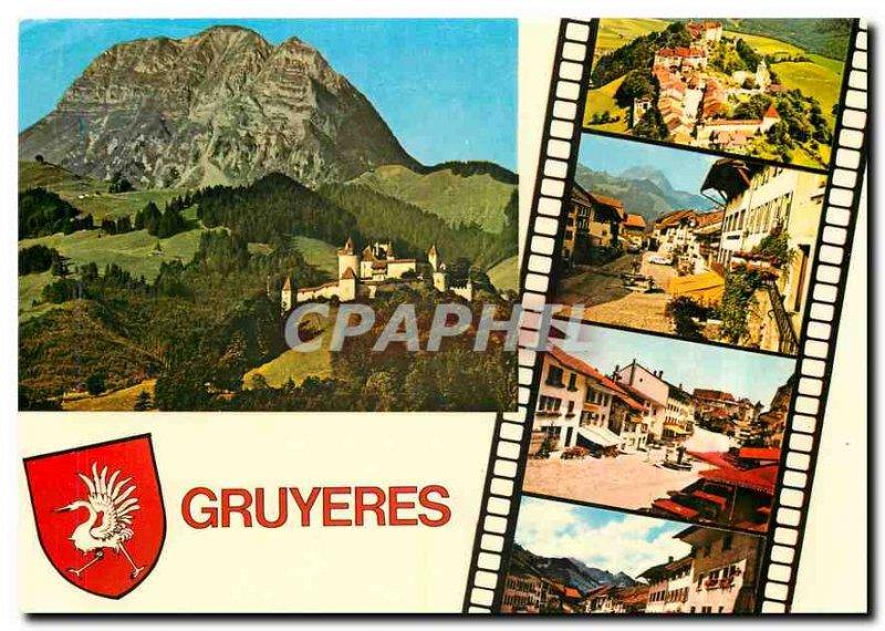 Modern Postcard Gruyeres
