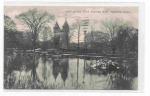 View across Pond showing Arch, Hartford, Connecticut ,00-10s
