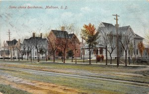 H4/ Madison South Dakota Postcard 1910 Some Choice Residences Homes