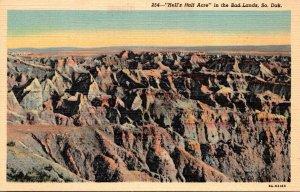 South Dakota Bad Lands National Monument Hell's Half Acre Cu...